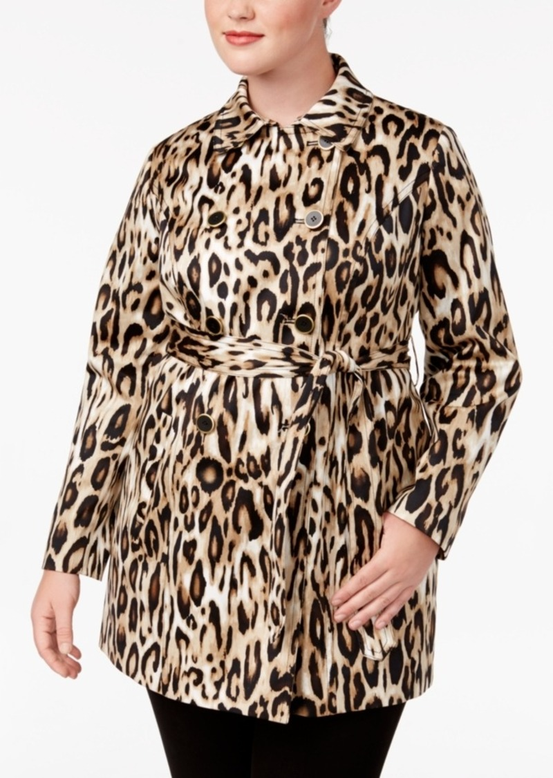 89ce5d182a83 Inc International Concepts Plus Size Animal-Print Trench Coat, Created for  Macy's
