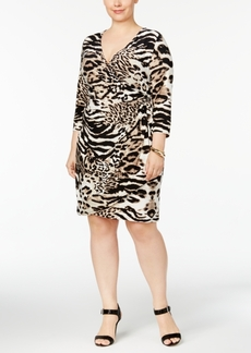 INC International Concepts I.n.c. Plus Size Animal-Print Wrap Dress, Created for Macy's