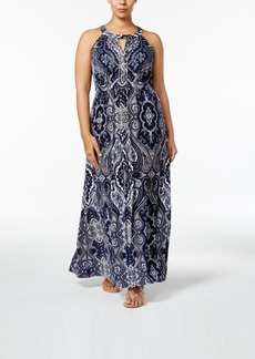 Inc International Concepts Plus Size Beaded Maxi Dress, Only at Macy's