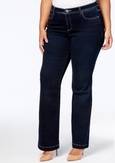 Inc International Concepts Plus Size Tummy Control Bootcut Jeans, Created for Macy's