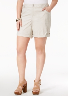 Inc International Concepts Plus Size Cuffed Shorts, Only at Macy's