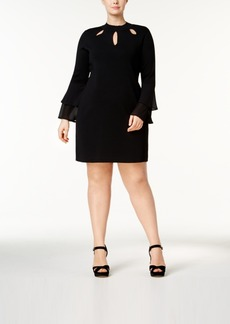 Inc International Concepts Plus Size Cutout Sweater Dress, Created for Macy's