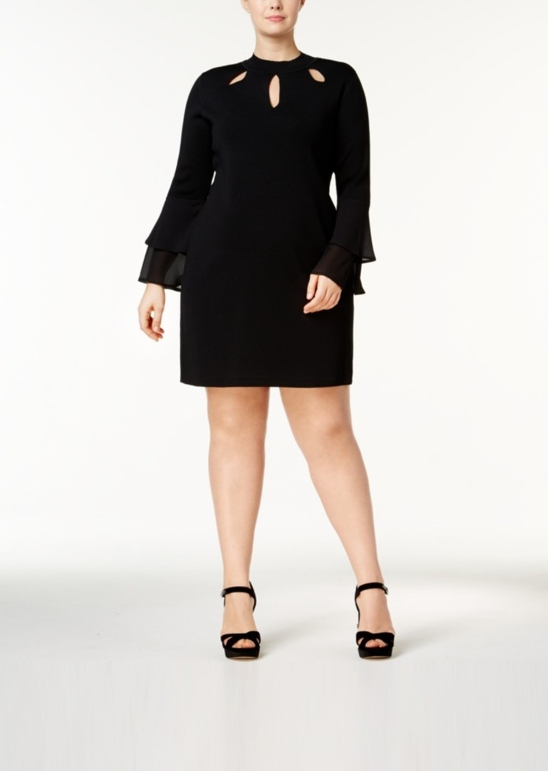 I.n.c. Plus Size Cutout Sweater Dress, Created for Macy\'s