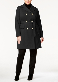 Inc International Concepts Plus Size Double-Breasted Coat, Only at Macy's