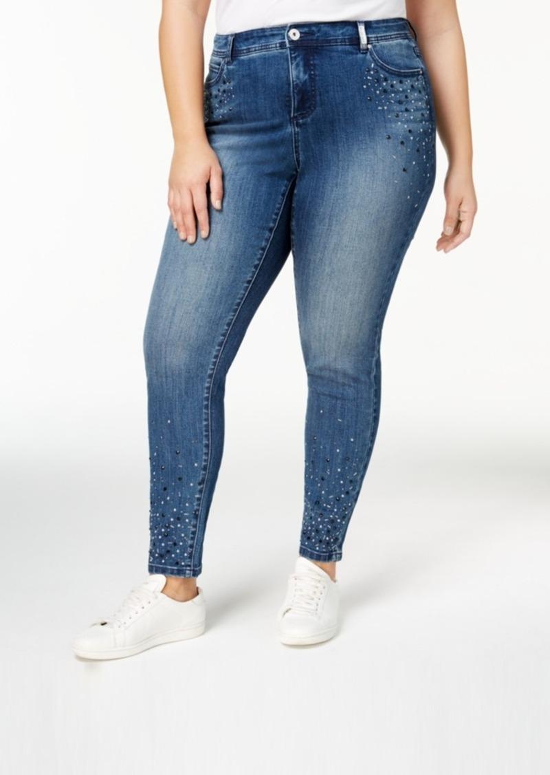 9814c4300f INC International Concepts I.n.c. Plus Size Embellished Skinny Jeans ...