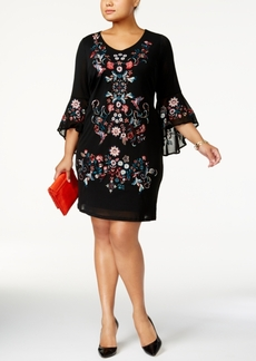 Inc International Concepts Plus Size Embroidered Mesh Dress, Created for Macy's