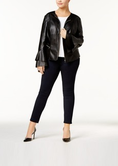 Inc International Concepts Plus Size Faux-Leather Jacket, Created for Macy's