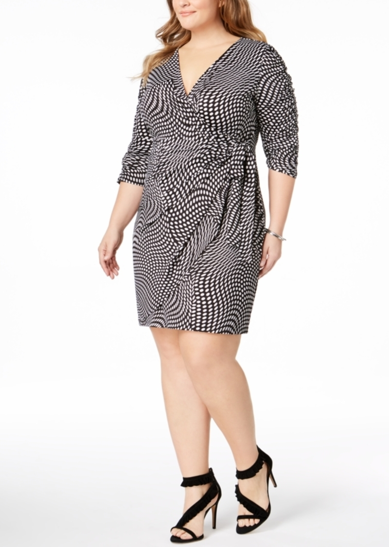 I.n.c. Plus Size Faux-Wrap Dress, Created for Macy\'s