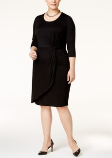Inc International Concepts Plus Size Faux-Wrap Dress, Only at Macy's