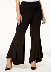 INC International Concepts Inc Plus Size Flared High-Low Hem Pants, Created for Macy's