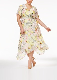 Inc International Concepts Plus Size Floral-Print Wrap Dress, Only at Macy's