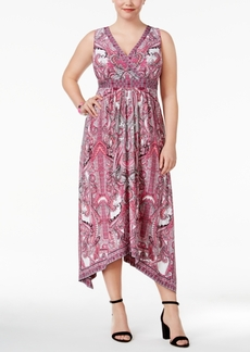 Inc International Concepts Plus Size Handkerchief-Hem Maxi Dress, Only at Macy's
