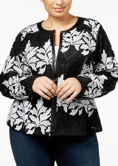 INC International Concepts I.n.c. Plus Size Lace Jacket, Created for Macy's