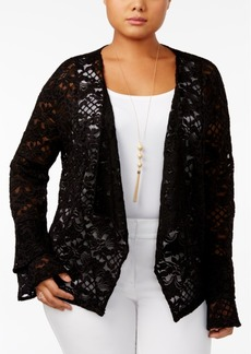 Inc International Concepts Plus Size Lace Jacket, Only at Macy's