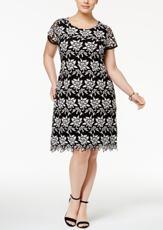 Inc International Concepts Plus Size Lace Sheath Dress, Only at Macy's