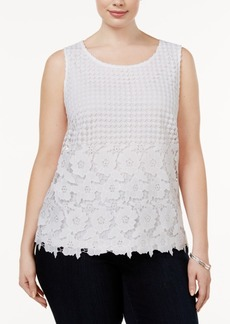 Inc International Concepts Plus Size Lace Shell, Created for Macy's