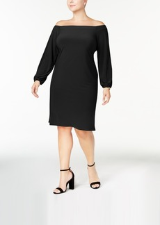 I.n.c. Plus Size Off-The-Shoulder Dress, Created for Macy's