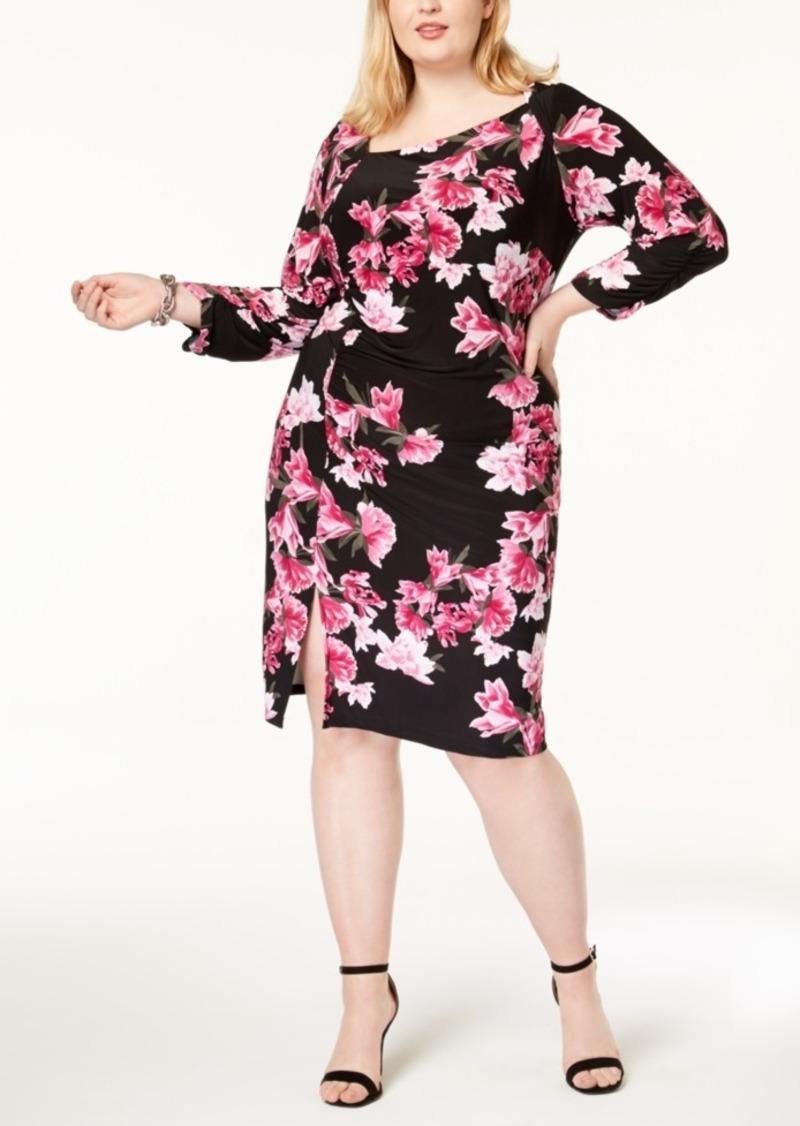 I.n.c. Plus Size Printed Asymmetrical Dress, Created for Macy\'s