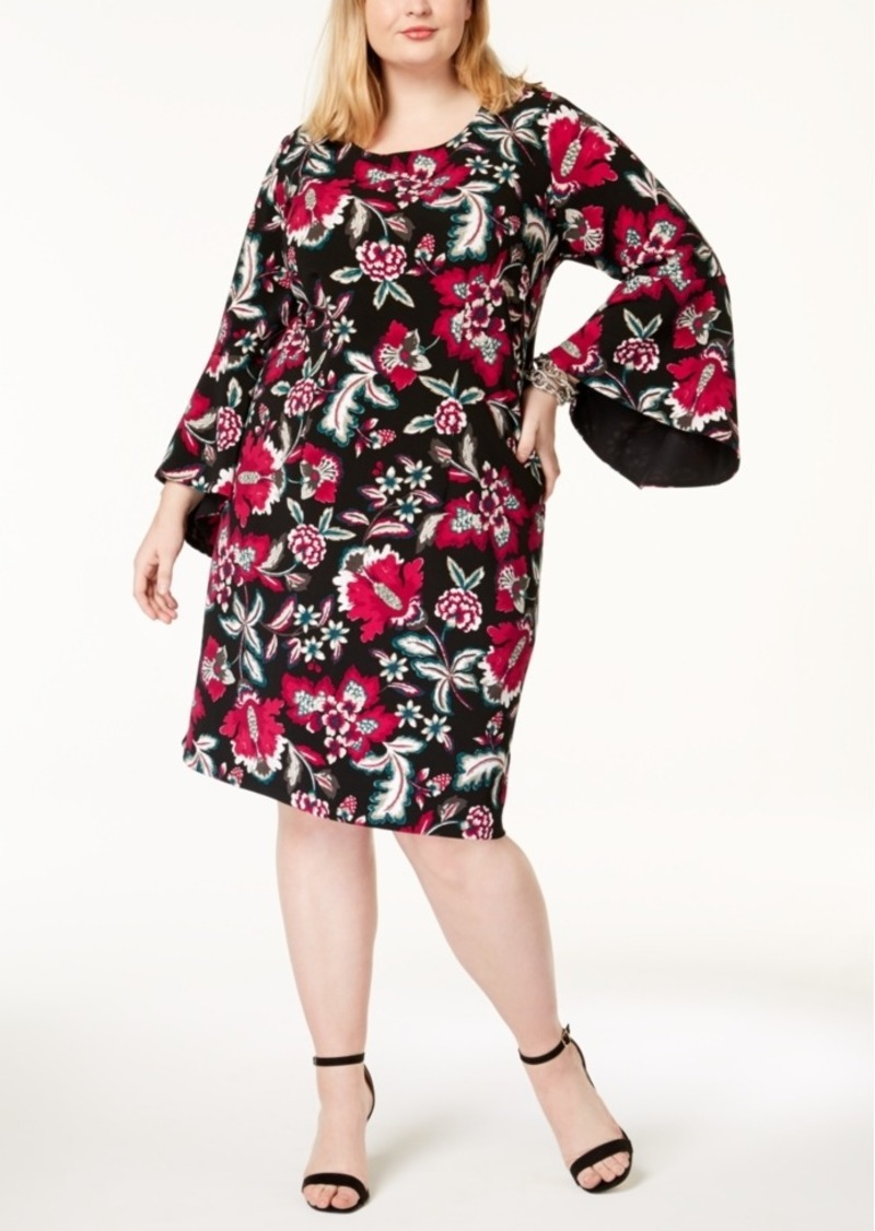 INC International Concepts I.n.c. Plus Size Printed Bell-Sleeve ...