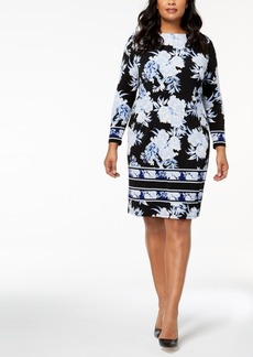 I.n.c. Plus Size Printed Dress, Created for Macy's