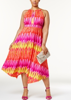 Inc International Concepts Plus Size Popsicle Printed Halter Dress, Only at Macy's