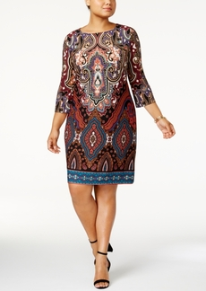 Inc International Concepts Plus Size Printed Sheath Dress, Created for Macy's