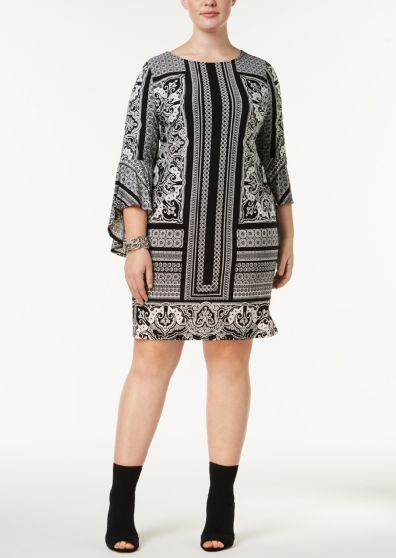 I.n.c. Plus Size Printed Shift Dress, Created for Macy\'s
