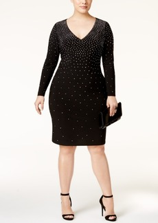 Inc International Concepts Plus Size Rhinestone Bodycon Dress, Only at Macy's