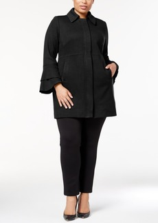 Inc International Concepts Plus Size Ruffle-Sleeve Jacket, Created for Macy's