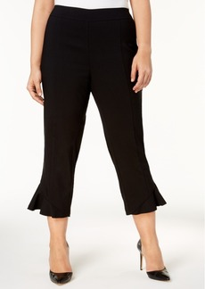 INC International Concepts I.n.c. Plus Size Ruffled Cropped Pants, Created for Macy's