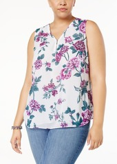 INC International Concepts I.n.c. Plus Size Sequined Half-Zip Shell, Created for Macy's