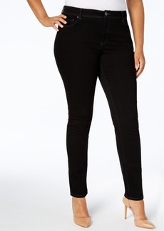 Inc International Concepts Plus Size Tummy Control Skinny Jeans, Created for Macy's