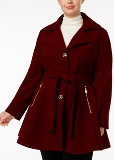 INC International Concepts I.n.c. Plus Size Skirted Belted Coat, Created for Macy's