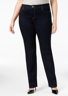 Inc International Concepts Plus Size Slim Tech Straight-Leg Jeans, Created for Macy's