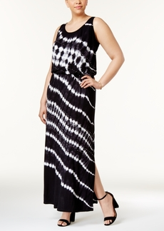 Inc International Concepts Plus Size Tie-Dyed Maxi Dress, Only at Macy's