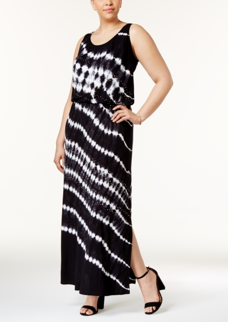 INC International Concepts Inc International Concepts Plus Size Tie-Dyed  Maxi Dress, Created for Macy\'s | Dresses
