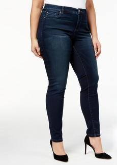 Inc International Concepts Plus Size Tummy Control Beyond Stretch Skinny Jeans, Created for Macy's