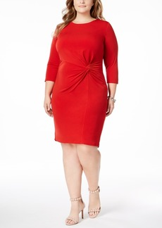 I.n.c. Plus Size Twist-Front Dress, Created for Macy's