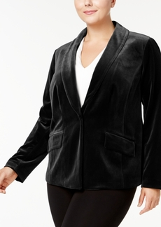 Inc International Concepts Plus Size Velvet Blazer, Created for Macy's