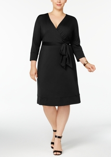 Inc International Concepts Plus Size Wrap Dress, Created for Macy's