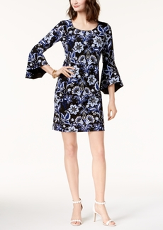 I.n.c. Printed Bell-Sleeve Dress, Created for Macy's