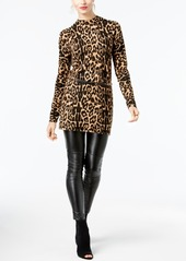Inc International Concepts Printed Belted Sweater Tunic, Created for Macy's
