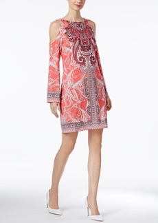 Inc International Concepts Printed Cold-Shoulder Dress, Only at Macy's