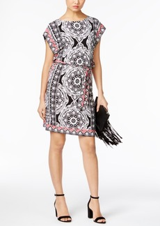 Inc International Concepts Printed Dolman-Sleeve Dress, Only at Macy's