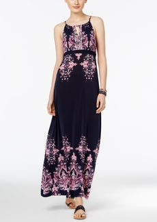 Inc International Concepts Printed Empire Maxi Dress, Only at Macy's