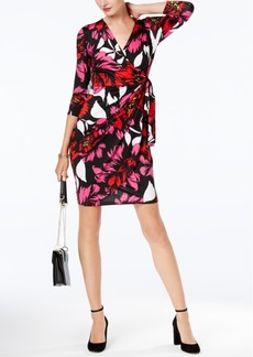Inc International Concepts Printed Faux-Wrap Dress, Created for Macy's