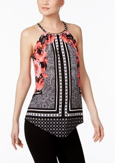 Inc International Concepts Printed Halter Top, Only at Macy's