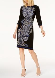 I.n.c. Printed Sheath Dress, Created for Macy's