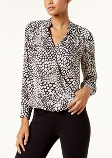 I.n.c. Printed Surplice Top, Created for Macy's