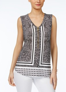 Inc International Concepts Printed Tank Top, Created for Macy's